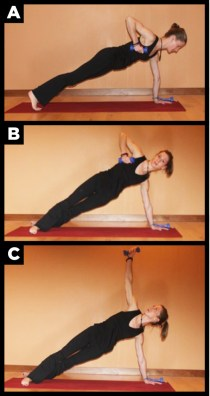 Side plank workout.