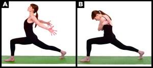 Woman does yogo pose for arthritis.
