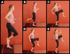 Woman doing skip exercise.