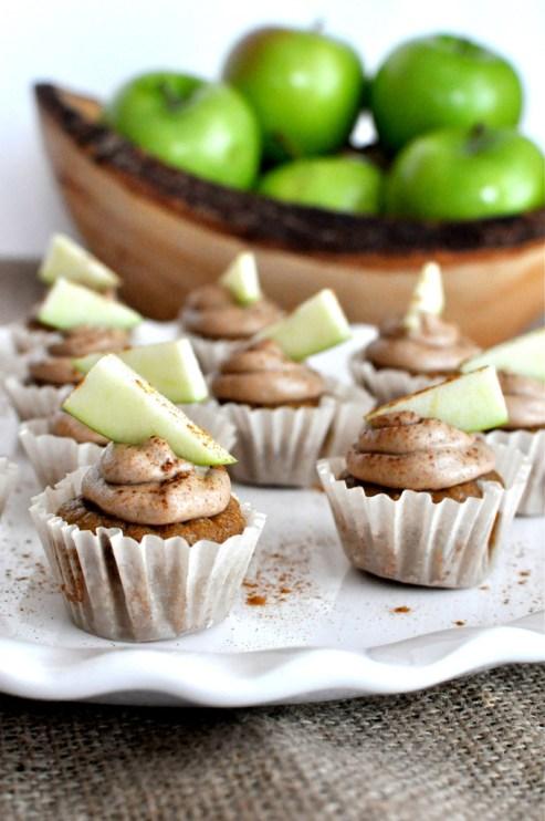 Mini Paleo Maple Cupcakes