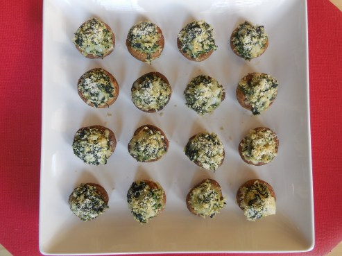 Stuffed Mushrooms with Spinach and Two Cheeses (6)