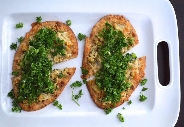 flatbread with parsley