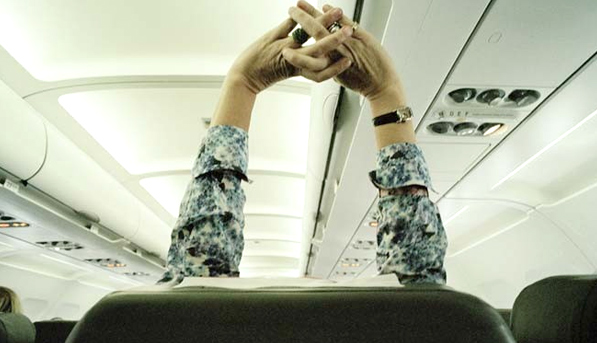 Airplane Yoga Moves