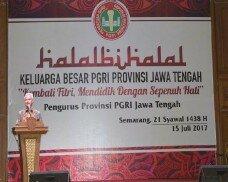 Halal Bihalal Dengan Pgri Gubernur Ajak Menjadi Agen Perubahan