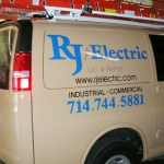 This is one of many hand lettered trucks done for RJ Electric