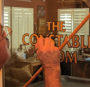 The mahl stick is a tool for assisting a sign painter