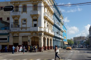 An example of colourful buildings still shaping Havana's character