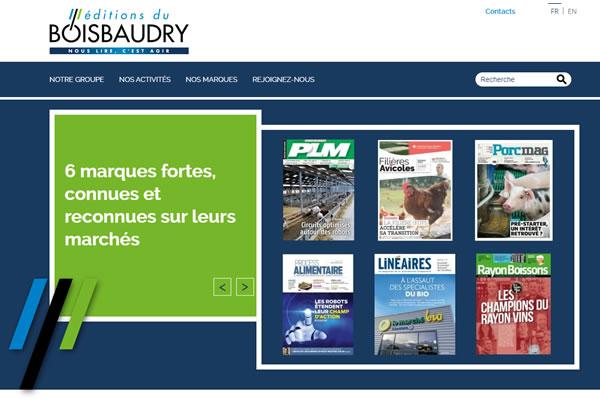 Chef de projet web Editions du Boisbaudry