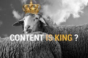 Webmarketing : Le contenu est-il (vraiment) roi ?
