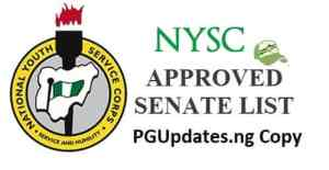 NYSC Batch C 2018/2019 Senate List for Mobilization