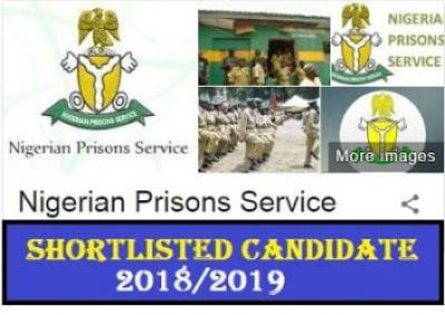 Nigerian Prisons Service Shortlisted Candidates 2018/2019