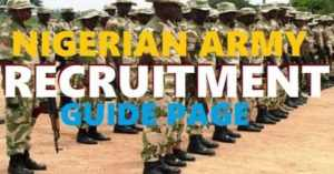 Nigerian Army Recruitment 2019/2020 Form- 78RRI