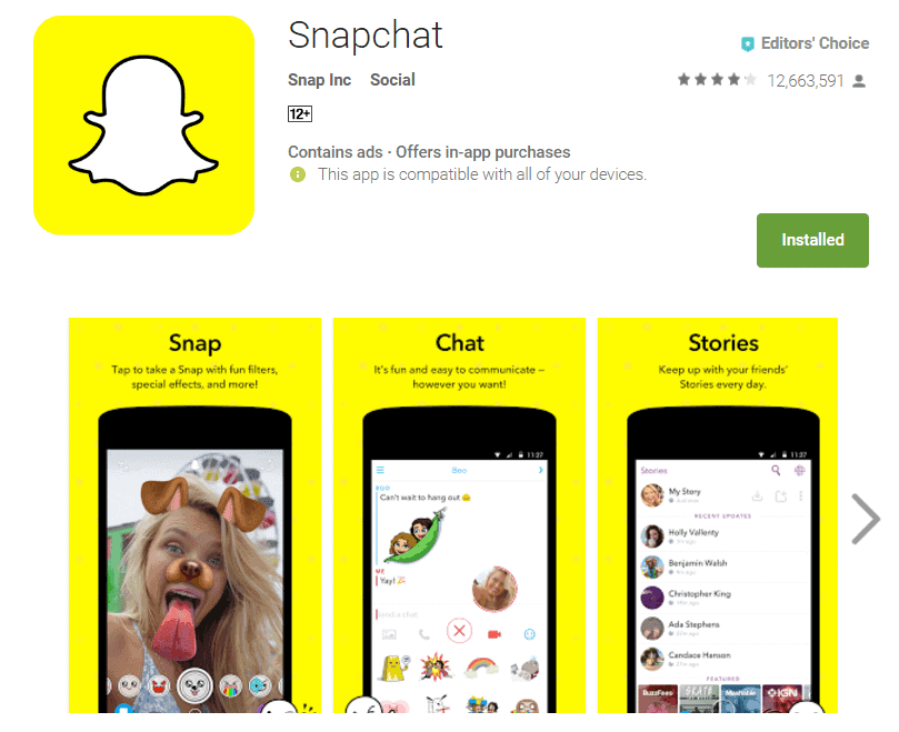 Snapchat online sign up