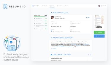 Resume Io Build Your Job Winning Resume In Minutes