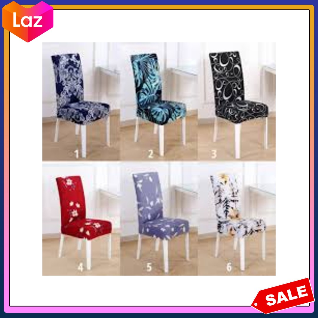 Original Outflety Stretchy Chair Cover Slip Covers Elastic Modern Chair Protector Washable Removable Dining Room Seat Chair Covers Universal Fitting Lazada Ph