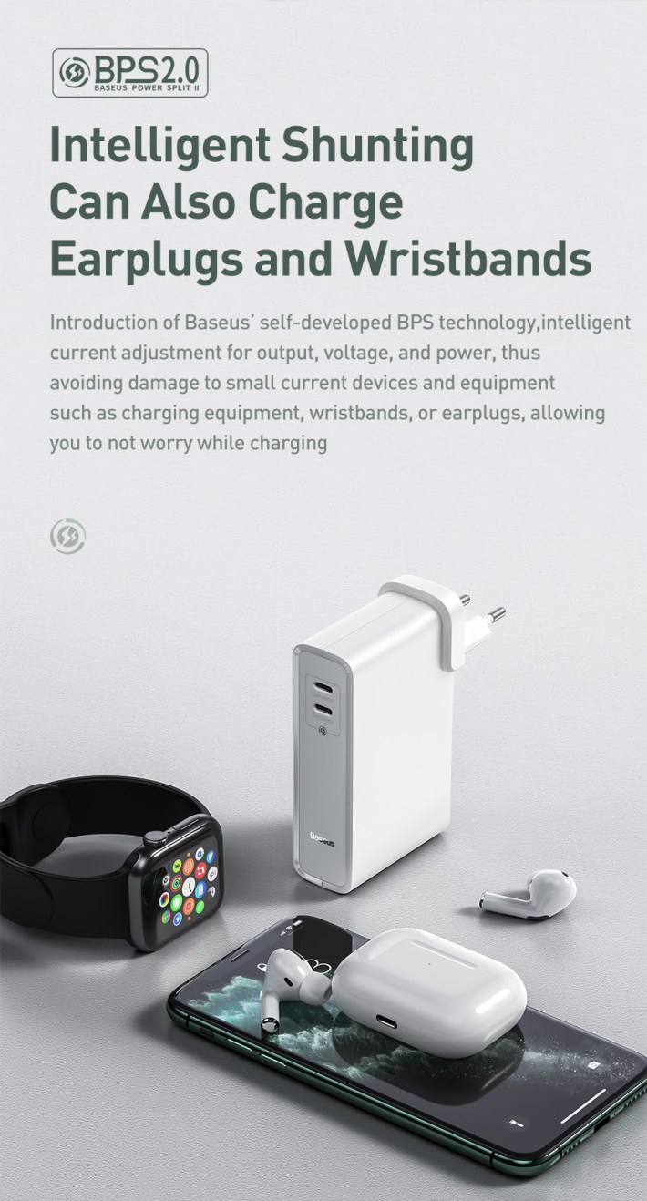 Baseus 45W GaN 2 in 1 Quick Charger & 10000 mAh Powerbank PD3.0 price in bd