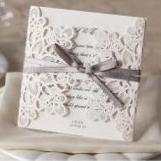 Red Laser Cut Wedding Invitations Philippines