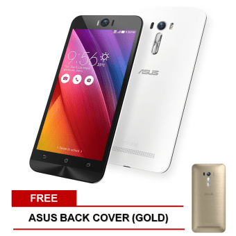 Asus ZenFone Selfie 32GB (White) with FREE ;Back Cover (Gold)