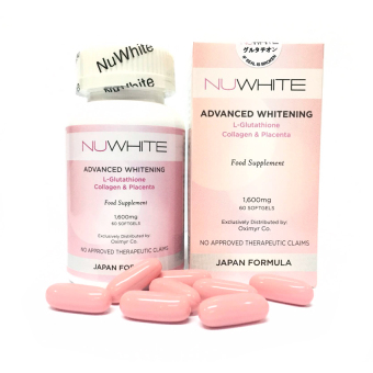NuWhite Glutathione 1600mg Softgel Bottle of 60