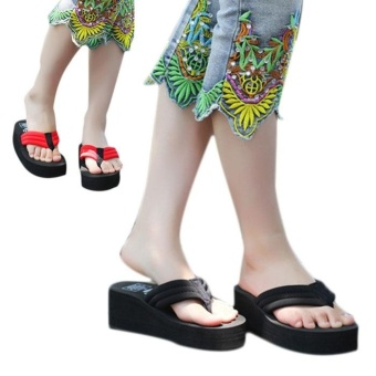 a3e8c63ddaffc9 women s sexy high heels flip flops slippers wedge platform antiskid beach  shoes