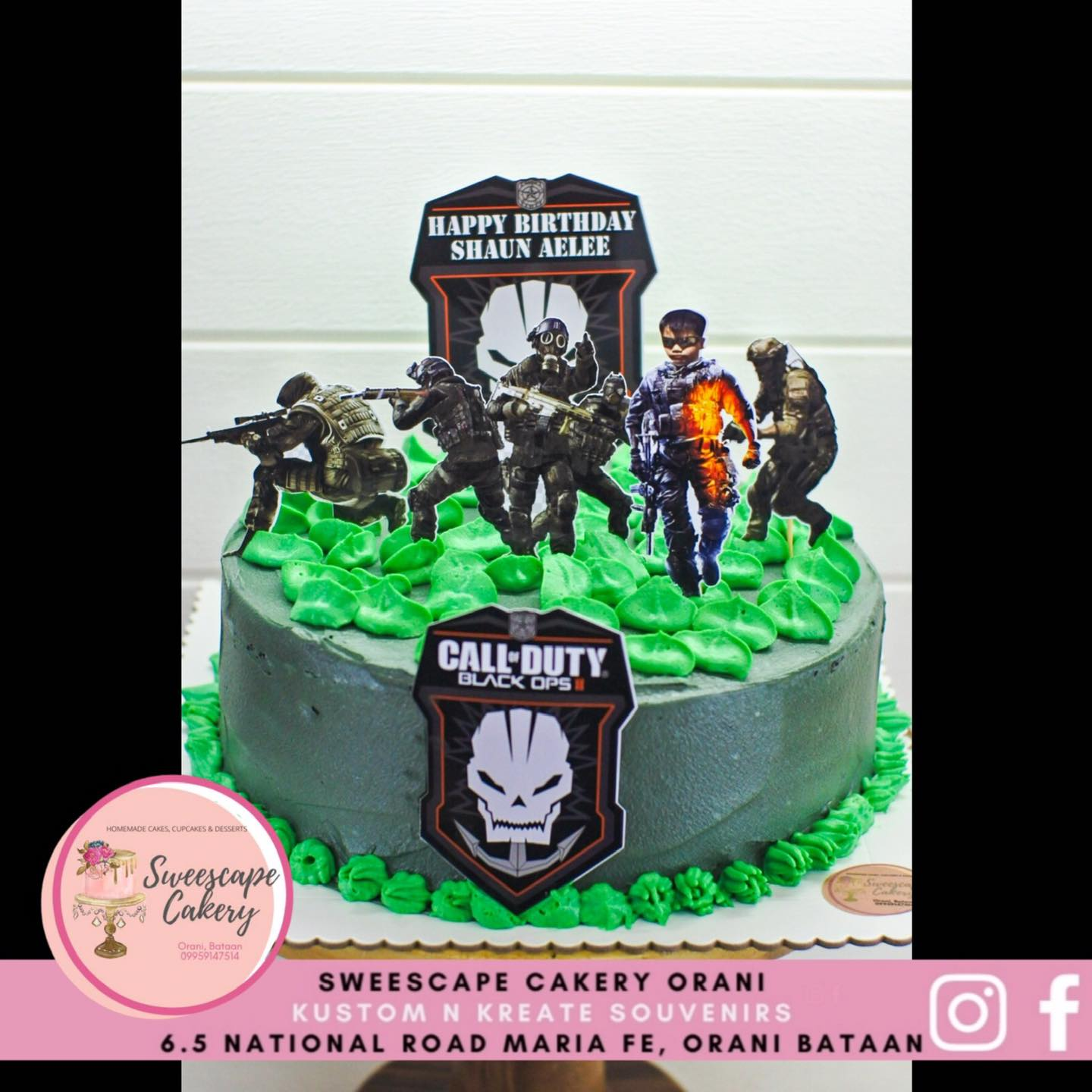 Call Of Duty Cupcake Cake Toppers Personalized Lazada Ph