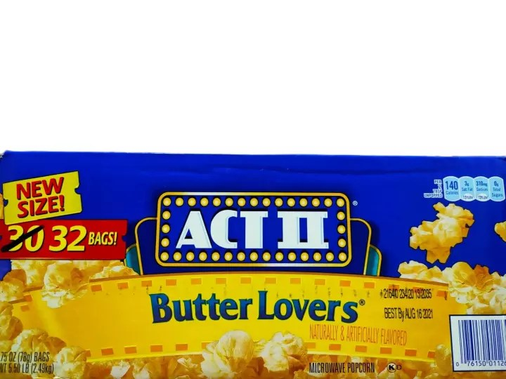 act ii butter lovers microwave pop corn 32 bags x 78 g sold by box made in usa