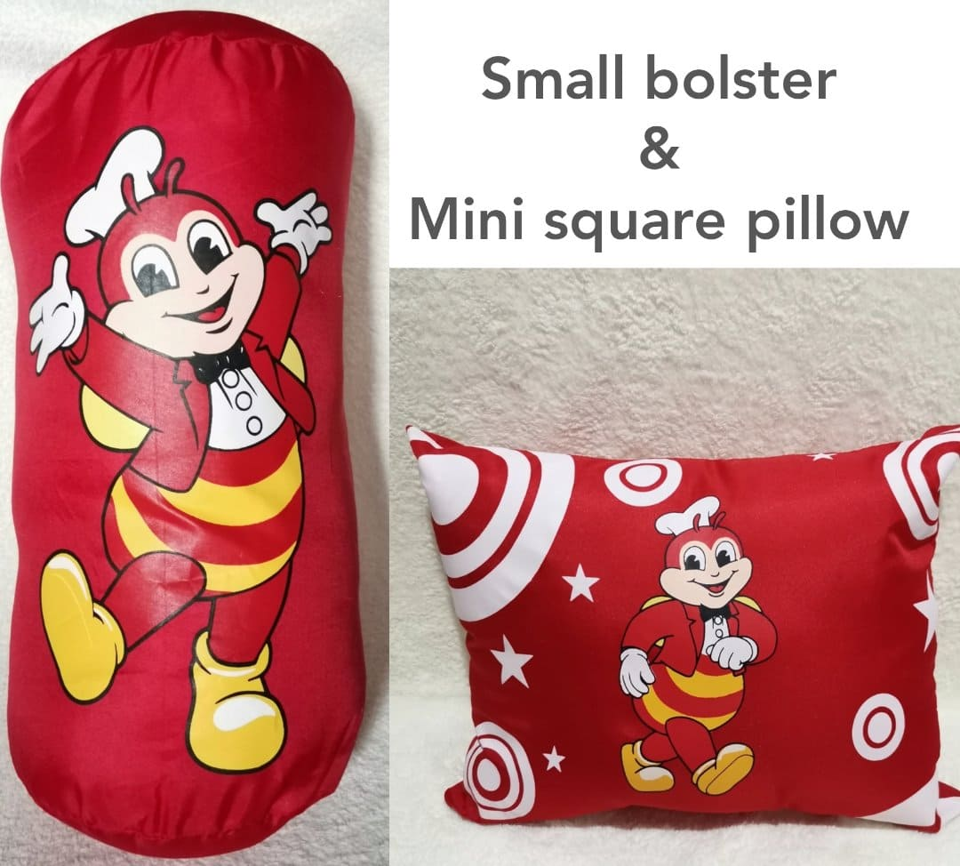12 off jollibee small bolster and mini square pillow set for only p230 00