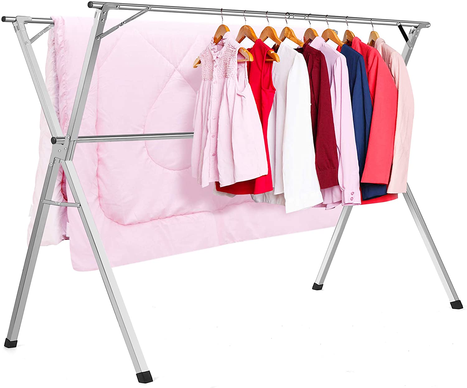 clothes drying racks stainless steel laundry drying rack heavy duty collapsible folding garment rack