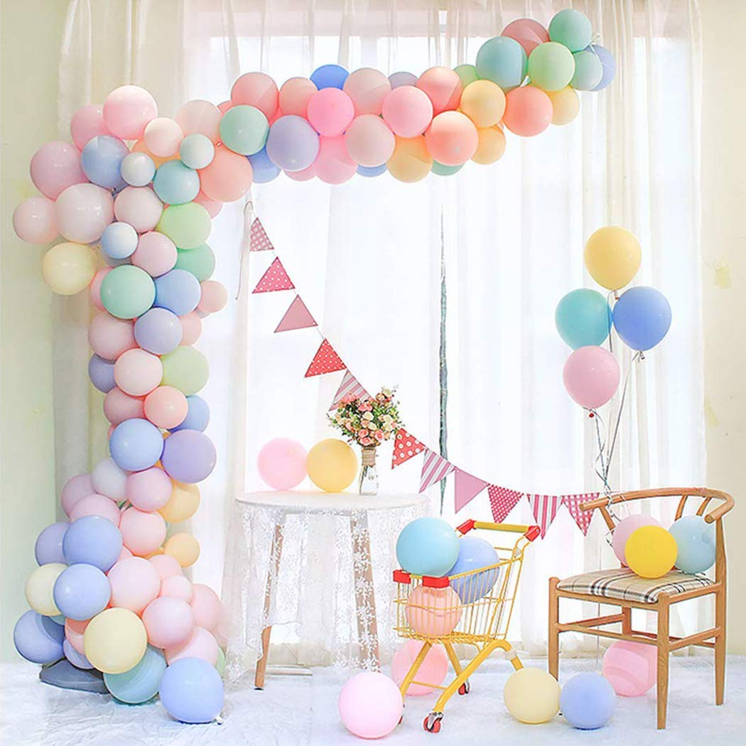 Pack Of 100pcs 10 Inch 2 2g Pastel Macaron Latex Balloons For Birthday Wedding Girls Party Bridal Baby Shower Decorations Party Supplies