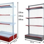 Gondola Supermarket Shelves Single Side And Double Sides Display Rack Spare Parts Hook And Barrier