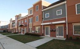 The New Queen Lane Apartments Are Comprised Of Townhouses And Stacked Flats Most Units Have Private Covered Entry Porches Access To A Rear Yard Patio