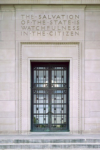 """The Salvation of the State is Watchfulness in the Citizen"" ~ Hey, it's carved in stone!"