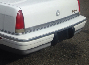 tailend of a 1992 Chrysler New Yorker...