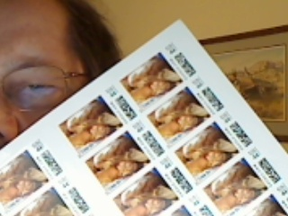 Louie postage stamps.