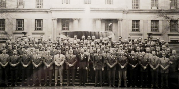 That's Dad in the third row, second from left.
