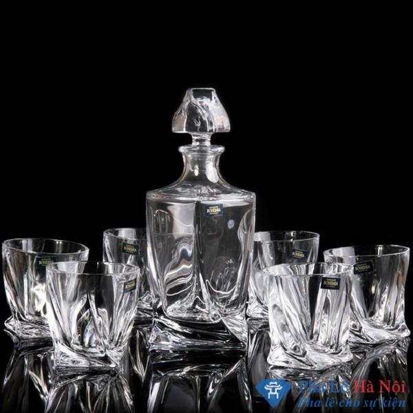 Bộ bình rượu pha lê 25
