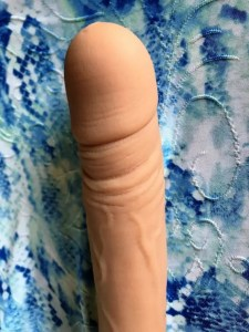 Tantus Gary front, top half on blue background