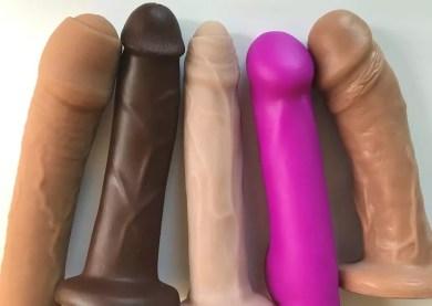 Dual-density silicone dildos Tantus O2 Uncut #1, Pleasure Works Firm Core Cadet, New York Toy Collective Ellis, Blush Real Nude Ergo, Vixen VixSkin Johnny