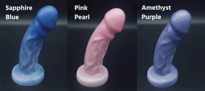 Uberrime Splendid Gentleman dual density dildo colors Peepshow Toys
