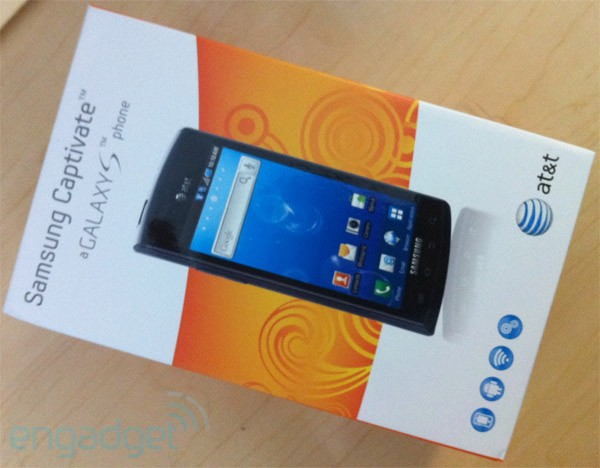 Samsung Captivate Retail Packaging Gets Seen