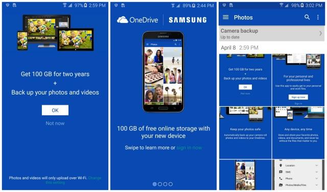 Samsung Galaxy S6 promo Microsoft OneDrive