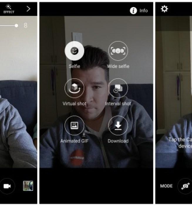 Samsung Galaxy S6 modalità fotocamera Selfie