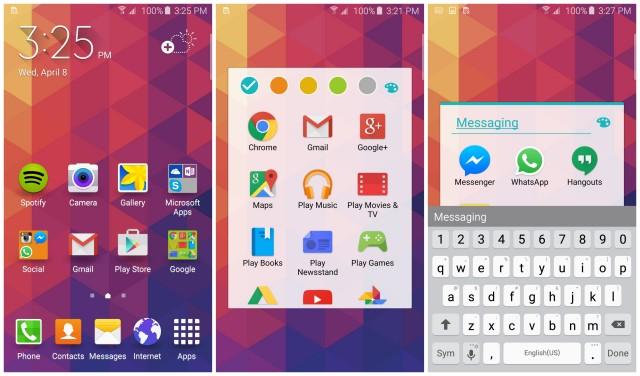 Samsung Galaxy S6 personalizzare le cartelle della schermata iniziale