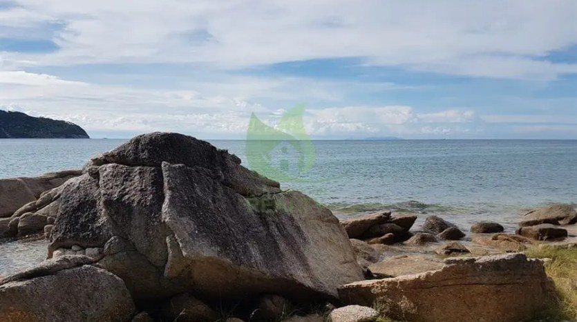 Easy access beautiful rocky seafront Koh Phangan land for sale