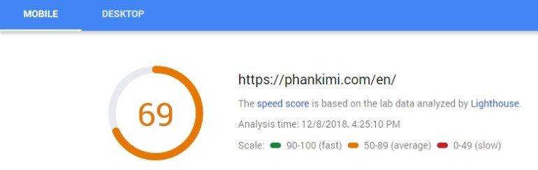 optimize mobile score google pagespeed insight tool inline css