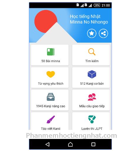 Phần mềm học tiếng Nhật -App học tiếng Nhật Mina no Nihongo hay cho Androi