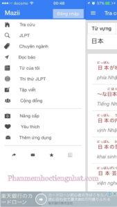 Nhiều tính năng khác của từ điển tiếng Nhật Mazzi dict