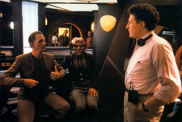 Behind the scenes of Star Trek: Deep Space Nine.