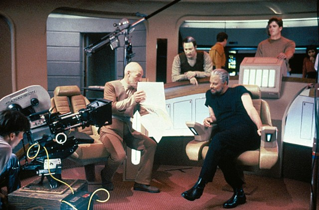 Behind the scenes of Star Trek: The Next Generation.