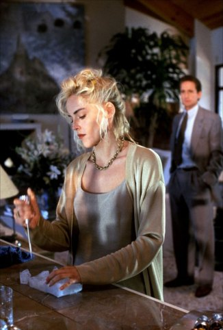"""Catherine Tramell with her infamous ice pick in """"Basic Instinct."""""""